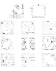 Tysun 11 Pcs Quilting Templates Sampler Set, Free-Motion Domestic Sewing Machine Ruler Template with Quilting Frame for DIY Quilting