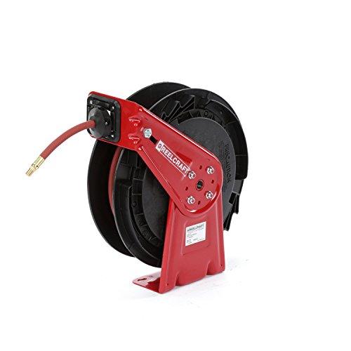 Hose Reel Spring - Reelcraft RT625 Medium Duty Spring Retractable Reel, Air and Water Hose Reel, ⅜