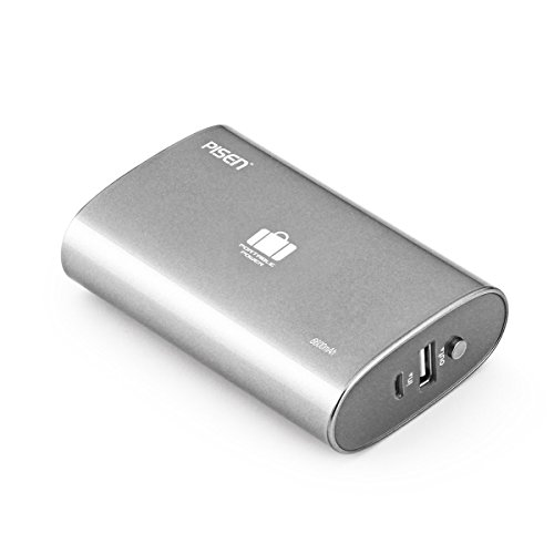 Pisen 6600Mah Portable Power Bank  Small And Compact External Battery Charger  Handheld Travel Charger For Iphone 7  Samsung S8  Nintendo Switch And Sony Psp