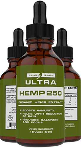 100% Pure Hemp Oil for Pain Relief -...