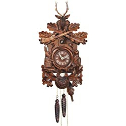 mygermanstore Mechanical Cuckoo Clock with Traditional Hunting Piece Carving, 16 Inch