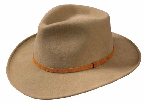 Broner Lite Felt Autumn Outback Hat, Antelope, (Lite Felt Outback Hat)
