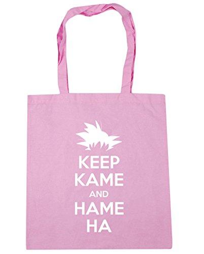 HippoWarehouse Keep Kame y Hame Ha Tote Compras Bolsa de playa 42cm x38cm, 10litros Classic Pink