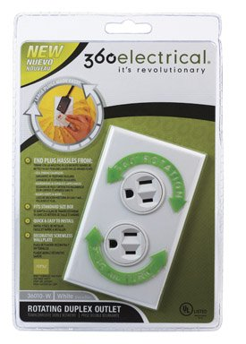 -W Rotating Duplex Outlet, White ()
