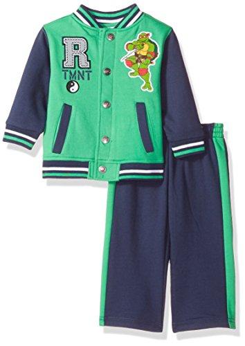 Nickelodeon Baby Boys' Ninja Turtle 2 Piece Fleece Jacket Set, Green, 18 Months