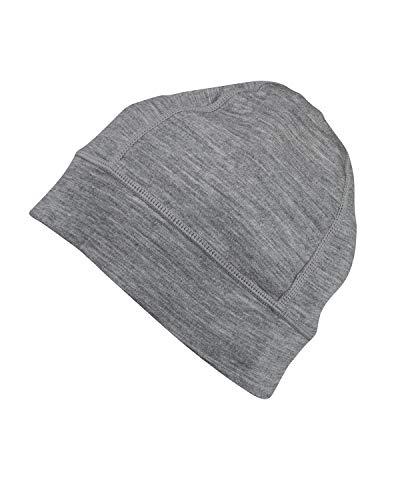 7EVEN Merino Wool Beanie Hat Midweight 230 GSM Grey