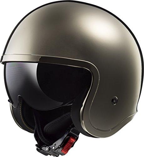 LS2 Helmets Motorcycle & Powersports Helmet's Solid Spitfire (Black Chrome, Large)