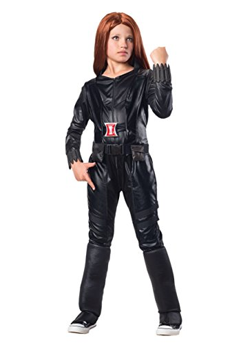 Soldier Outfit (Rubies Marvel Comics Collection: Captain America: The Winter Soldier Deluxe Black Widow Costume, Child Medium)
