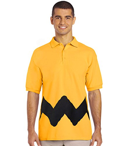 Peanuts Charlie Brown Costume Polo Shirt-Large