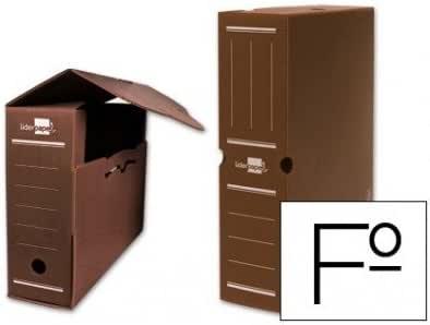 Liderpapel - Caja archivo definitivo plastico marron tamaño 36x26x10 cm (5 unidades): Amazon.es: Oficina y papelería