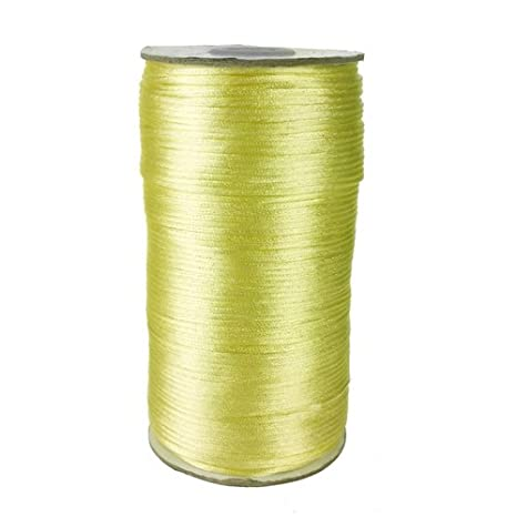 200 Yards 2mm Hunter Green, Homeford Firefly Imports Satin Rattail Cord Chinese Knot