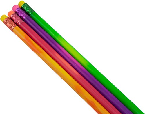 (Mood Pencil (Heat Activated Color Changing Pencils) (Thermochromic) (Tested Non Toxic) (Latex Free Eraser) (Box of 72) (Assorted Pack (Green, Purple, Orange, Red) (Classroom)