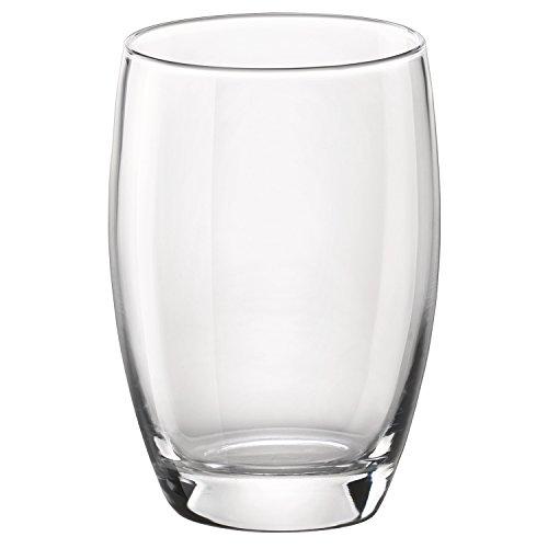 (Bormioli Rocco Essenza Cooler Glass, 16 oz., Set of 4 , Clear)