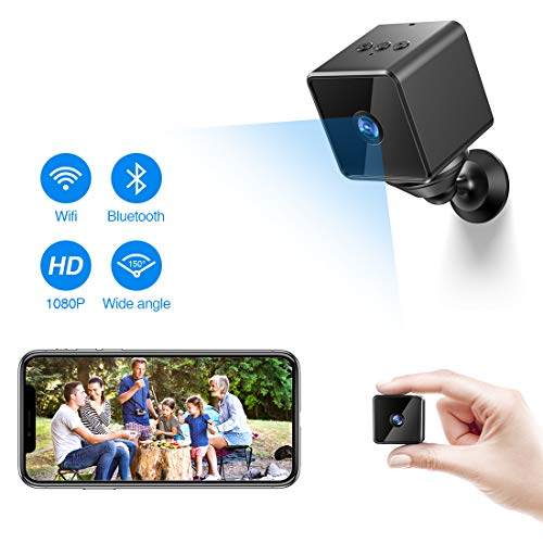 Bluetooth Wifi Mini Spy Hidden Camera, ZZCP Wireless HD 1080P Portable Covert Home Nanny Cam with Motion Detection, Night Vision and Bluetooth Speaker, Indoor Outdoor Small Live Stream Security Camera (Indoor Camera Hidden)