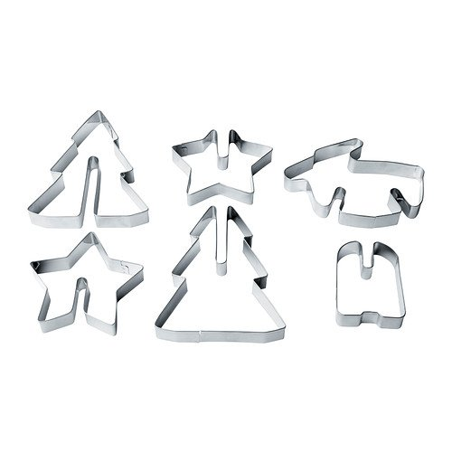 Ikea S New Snokul Christmas Pastry Cutter Set Of 6 Stainless Steel