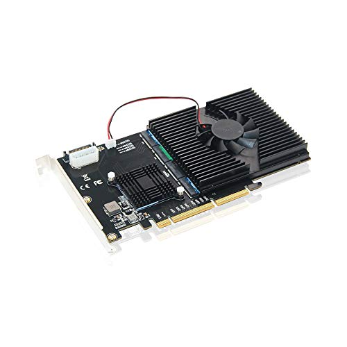 - A ADWITS Quad M.2 NVMe SSD PCIe X16 Adapter,ASM2824 PCI Express 3.0 X16 Switch to 4 Ports M.2 Adapter Card,Supports RAID,PCIe Bifurcation,4 X4 NVMe(AHCI Compatible)M.2 SSD in Size 2242/2260/2280/22110