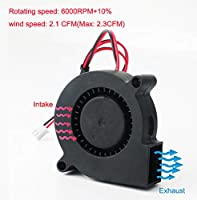 RUNCCI-YUN 3 Piezas Ventilador Turbina 12V 5015 50x50x15 mm ...