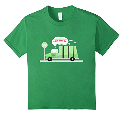 Price comparison product image Kids Garbage Day, Is The Best Day Shirt | Boys Trash Truck 4 Grass