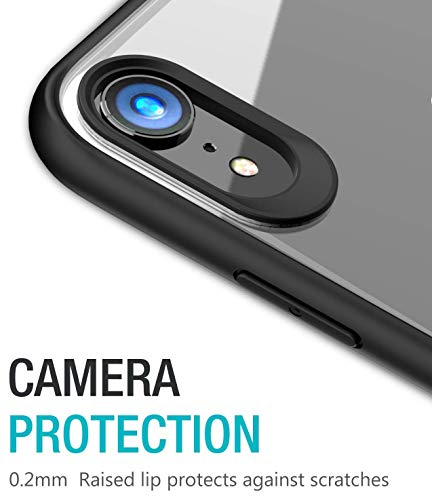 TOZO for iPhone XR Case Hybrid Soft Grip Matte Finish Frame Clear Back Panel UltraThin Slim Fit Cover for iPhone XR 61 Inch 2018 Black