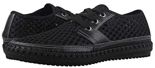 Mohem Men's Poseidon Mesh Walking Shoes Casual Water Shoes (3166Black42)