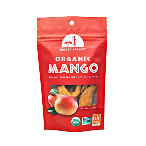 Mavuno Harvest Fair Trade Organic Dried Fruit, Mango, 2 Ounce (Pack of 6)