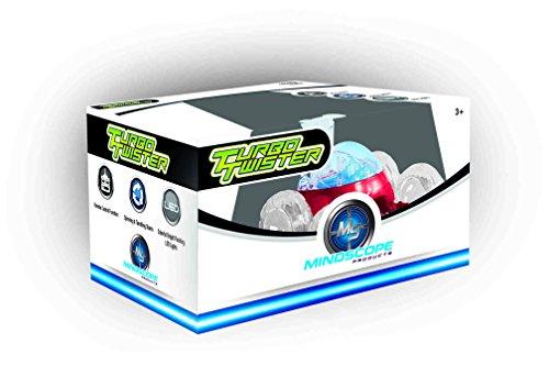 Rc Stunt Vehicle (Mindscope Turbo Twisters RED 27 MHz Bright LED Light Up Stunt RC Remote Control Vehicle)