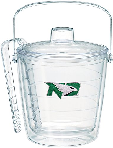 (Tervis 1254489 North Dakota Fighting Hawks Logo Insulated Ice Bucket and Tongs with Emblem and Clear Lid - Boxed 87oz)