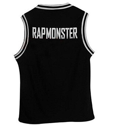 Kpop Bangtan Boy BTS Baseball UniforM Tank Top T-shirt XX-Large Rap Monster