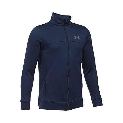 Under Armour Boys' Pennant Warm Up Jacket, Midnight Navy/Graphite, Youth Medium