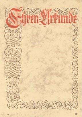 Albert Hoffmann Urkundenverlag Ehrenurkunden 134 Pc Urkunden