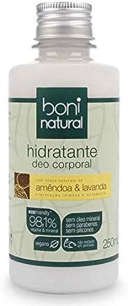 Hidratante Deo Corporal Amêndoa e Lavanda, Vegano e Natural, Boni Natural, 250 Ml, Boni Natural