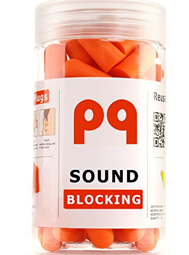 PQ Earplugs for Sleep - Ear Plugs for Sleeping - Noise Cancelling 32 dB - Comfortable & Reusable Ear Plugs for for Snoring - with Reusable Earplugs for Swimming & Traveling