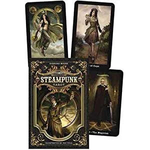 AzureGreen Fortune Telling Tarot Cards Steampunk Tarot Deck & Book by Barbara Moore