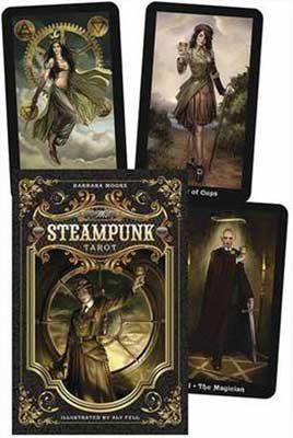 AzureGreen Fortune Telling Tarot Cards Steampunk Tarot Deck & Book by Barbara Moore 3