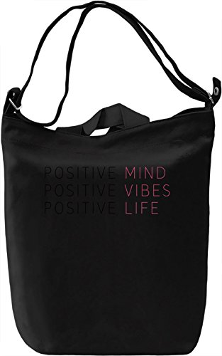 Positive Life Borsa Giornaliera Canvas Canvas Day Bag| 100% Premium Cotton Canvas| DTG Printing|