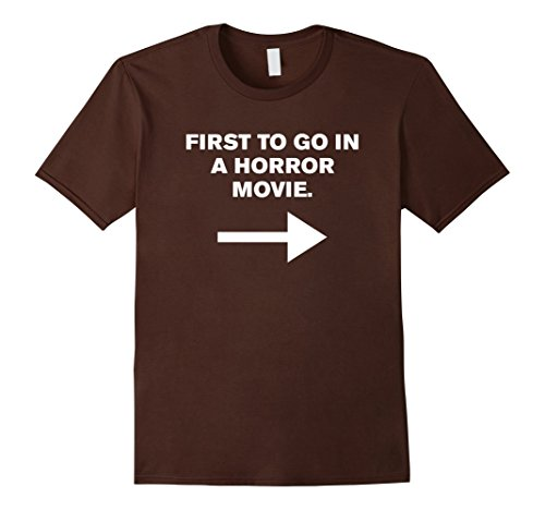 Mens First to Go in a Horror Movie - Couples Funny Costume Shirt 2XL Brown