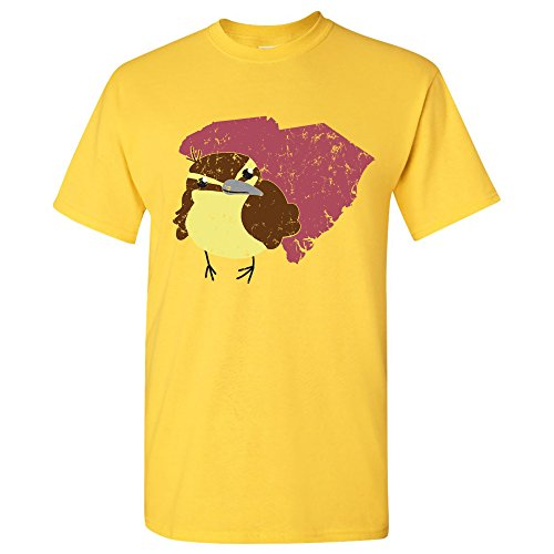 South Carolina State Bird - Carolina Wren State Pride T Shirt - Large - (South Carolina State Bird)