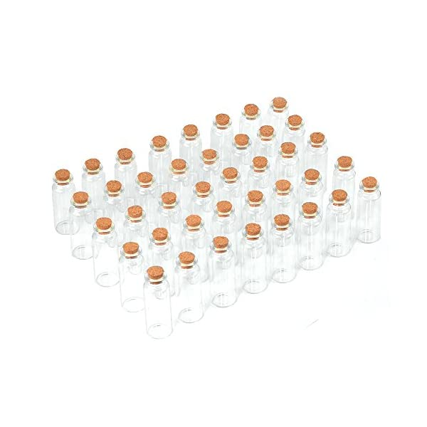 40 Pcs, 20ml Mini Glass Jars Bottles with Cork Stoppers, DIY Decoration Small Glass Bottles Favors,Mini Vials Cork… 4