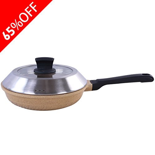 Wangfeng Non-Stick Omelette Pan,Smokeless Die-casting Aluminum Fry Pans - Dish Washer Safe Cookware (9.8-Inch, (Broiler Safe Fry Pan)