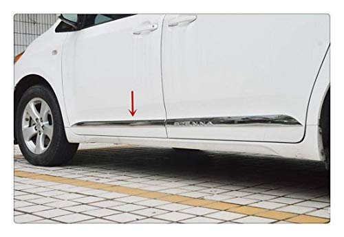 Jin cypress Chrome Body Side Door Molding Cover Trim Decor fits 2011-2019 Toyota Sienna MPV