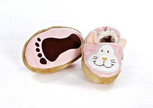 Babysutten Krabbelschuhe, Katze, rosa, ab ca. 6 Monaten