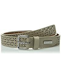 Cole Haan Women's Chrunken Glove Panel Belt with Perforation
