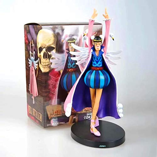 "Deep Huble 7"" One Piece Baroque Works Mr.2 Shemale Bon Clay Bentham PVC Action Figure Collectible Model Toy Box 17 cm B97"