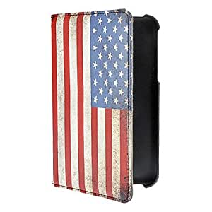 AES - Vintage American Flag Pattern PU Leather Full Body Case for Samsung Galaxy Tab3 P3200