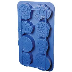 Icup Marvel Comics Heroes Ice Cube Tray Mold Iron Man, Hulk, Captain America Silicone