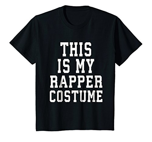 Kids This Is My Rapper Costume Halloween T-Shirt Funny 12 Black -