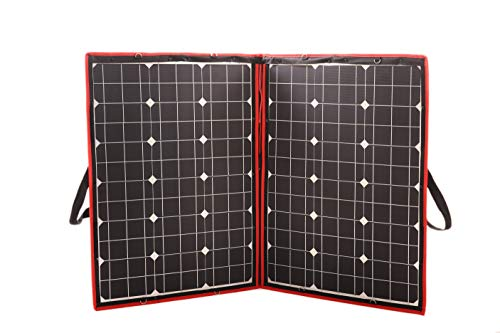 - DOKIO 100 Watts 12 Volts Monocrystalline Foldable Solar Panel with Charge Controller