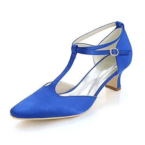 Damen Hochzeit Schuhe Comfort Basic Pump & Evening Frühling Frühling Frühling Sommer Satin / High Heels / Party Blau 2b70a0