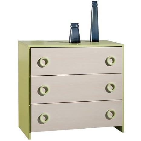 Cassettiere Colorate Per Camerette.Composad Cassettiera Colorata Cameretta Ragazzo Colorata Legno Verde