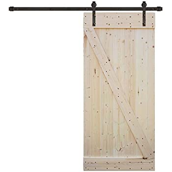 Amazon Com Tms 8ft Dark Coffee Sliding Diy Barn Door